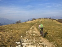 Monte Palon del massiccio del Grappa in mtb